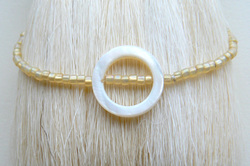Beach Chic Bracelet, White Ring